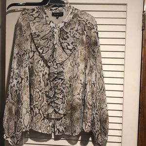 Tops - JONES NY Animal print blouse